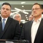 Jorge Ramirez, left, and former Chicago Alderman Edwin Eisendrath