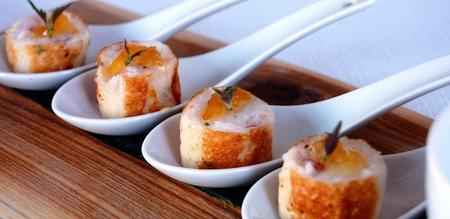 Seafood boudin with yuzu and shiso