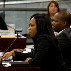 CPS CEO Janice Jackson at a Board of Education meeting on January 25, 2017.