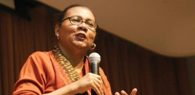 An undated photo of Bell Hooks.
