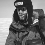 Norwegian Borge Ousland, 33, shown in this undated photo, at the South Pole.