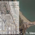 (Source: Google Earth with overlay map of Lincoln Park in 1863, from IJ Bryan's History of Lincoln Park, 1899
