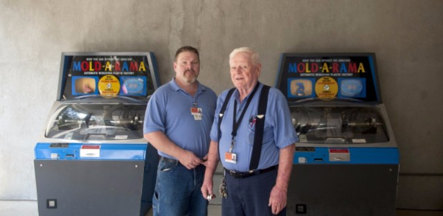 Paul Jones and his dad, Bill, who co-own Mold-A-Rama Inc.