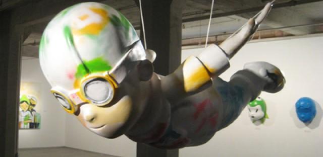 Artist Hebru Brantley brings his pop culture leanings to his work