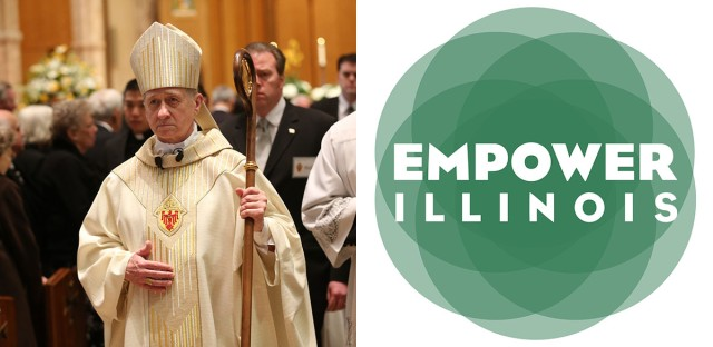 Chicago Archbishop Blase Cupich, pictured, lobbied for Illinois' private school scholarship program, and the archdiocese has played a dominant role in the rapid growth of the dominant group administering the scholarships, a nonprofit group called Empower Illinois.