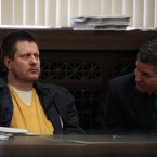 Former Chicago Police Officer Jason Van Dyke sits between two of his attorneys at a December 14 post-conviction hearing in the Leighton Criminal Court Building. Courthouse veterans say he could shorten any prison sentence if he can convince the judge he feels bad about Laquan McDonald's death.