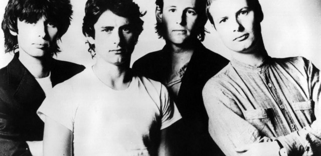 XTC in the early '80s: Moulding, Chambers, Gregory, Partridge .
