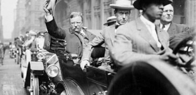 August 6, 1912--Roosevelt arriving in Chicago