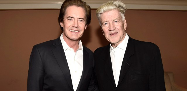 "Kyle MacLachlan and Creator/Director/Executive Producer David Lynch seen at ""Twin Peaks"" panel at Showtime 2017 Winter TCA in January."
