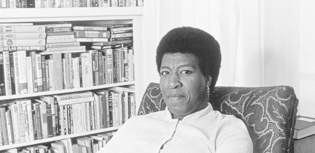 Octavia Butler at home. A lifelong bibliophile, she considered libraries sacred spaces.