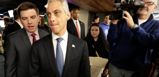 "Chicago Mayor Rahm Emanuel prepares to speak to the media, Thursday, Dec. 3, 2015, in Chicago. Faced with growing calls for federal intervention after a white officer fatally shot a black teen, Mayor Rahm Emanuel said Thursday the city would welcome a Justice Department investigation of ""systemic issues"" in the Chicago police department."