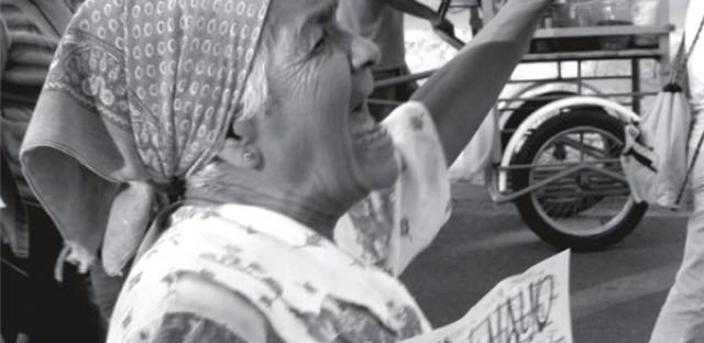 Woman in Oaxaca uprising (Gustavo Vilchis).