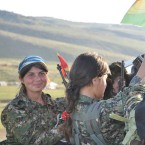 Female Yezidi resistance fighters