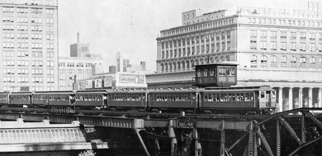 Garfield Park train near Union Station, 1941