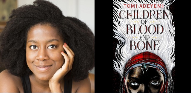 Tomi Adeyemi's 'Children of Blood and Bone' came out earlier this month, more than a year after the movie rights were sold to Fox 2000. (Photo by Elena Seibert/Cover art courtesy of Henry Holt and Co. publishing)