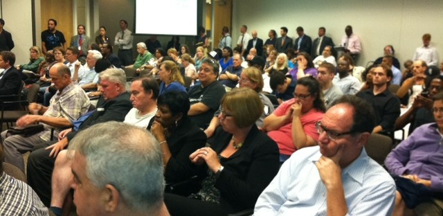 More than 300 people gathered to voice concerns about the CTA's plans to cut or restructure about a dozen bus lines.