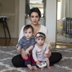 Leah Bahrencu, 35, of Austin, Texas, developed an infection after an emergency C-section to deliver twins Lukas and Sorana, now 11 months. Ilana Panich-Linsman