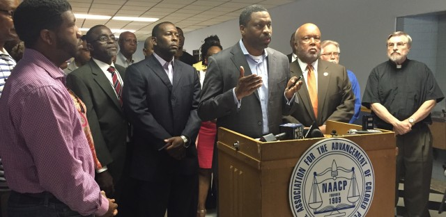 "Derrick Johnson, president of the Mississippi NAACP, said at a press conference Wednesday that Donald Trump ""clings to the hateful and intolerant rhetoric of this country's shameful history — a history that we know all too well."""