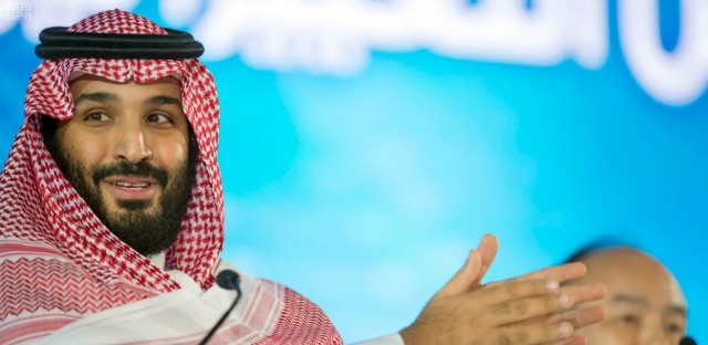 """Saudi Crown Prince Mohammed bin Salman speaks at the opening ceremony of Future Investment Initiative Conference in Riyadh, Saudi Arabia. Saudi Arabia's crown prince has promised to return the ultraconservative kingdom to a more """"moderate"""" Islam."""