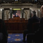 President Donald Trump delivers his first State of the Union address at the U.S. Capitol to a joint session of Congress Tuesday night in Washington, D.C.