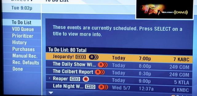 List: My current DVR pileups