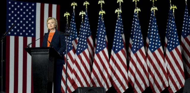Hillary Clinton delivers a national-security speech at Balboa Park in San Diego, Calif., Thursday. The speech was an indictment of Republican Donald Trump's candidacy.