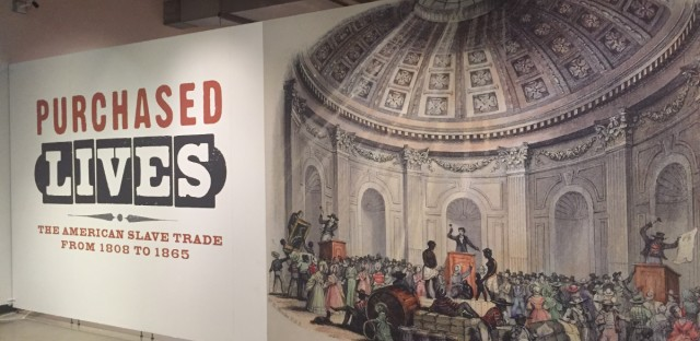 "The Illinois Holocaust Museum exhibit ""Purchased Lives"" focuses on the period of time after the international slave trade was abolished."