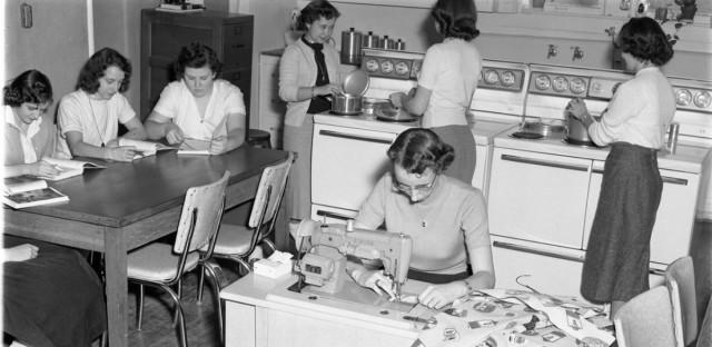 black and white home economics
