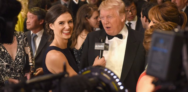 Donald Trump at the 101st Annual White House Correspondents' Association Dinner at the Washington Hilton on April 25th, 2015 in Washington, DC. This year, he says he will not attend.