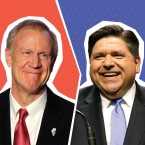 Rauner, Pritzker, and a slate of other primary winners are already moving on to the November midterm elections. (Photos: AP/ Illustration: Paula Friedrich/WBEZ)