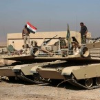 Iraqi forces are deployed during an offensive to retake Mosul from Islamic State