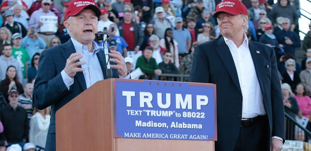 Alabama Sen. Jeff Sessions was the first senator to endorse Donald Trump for president.