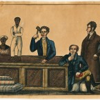 Slave Auction; ca. 1831; ink and watercolor