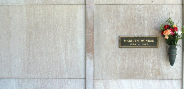 Playboy founder Hugh Hefner often spoke of how he would one day be entombed in the plot he'd bought next to Marilyn Monroe. Her crypt is at the Westwood Village Memorial Park in Los Angeles. Mel Bouzad/Getty Images