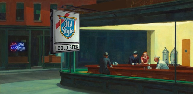 "Our take on the late-night Chicago joint, inspired by Edward Hopper's ""Nighthawks."""