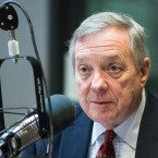 Senator Richard J. Durbin seen at WBEZ studios in 2017