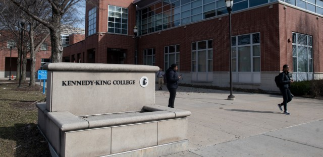 The Kennedy-King campus of the City Colleges of Chicago. Enrollment in the school's HVAC program has dropped by nearly half since 2015.