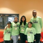 """The organizers of the national """"Fasting5k"""" run at the WBEZ studios."""