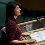U.S. Ambassador to the United Nations Nikki Haley speaks at the U.N. General Assembly, Thursday, Dec. 21, 2017, at United Nations headquarters.
