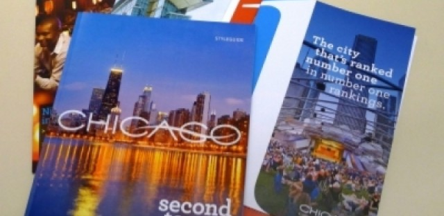This is the first tourist campaign the Chicago Convention and Tourism Bureau has with coordinated print, web and TV ads.