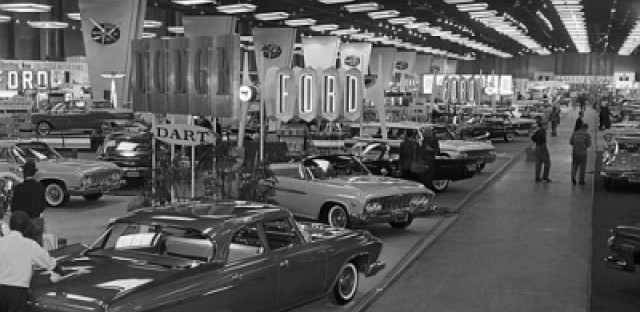 The Chicago Auto Show on February 17, 1961 at McCormick Place.