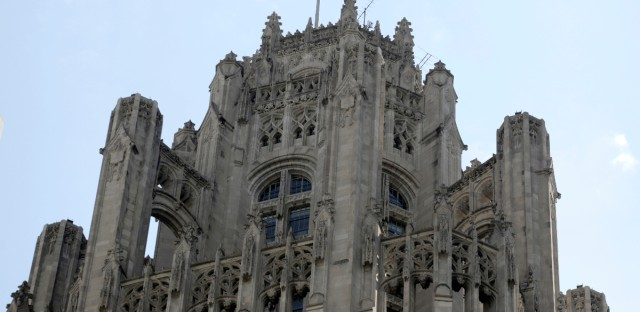 Top of the Tribune Tower