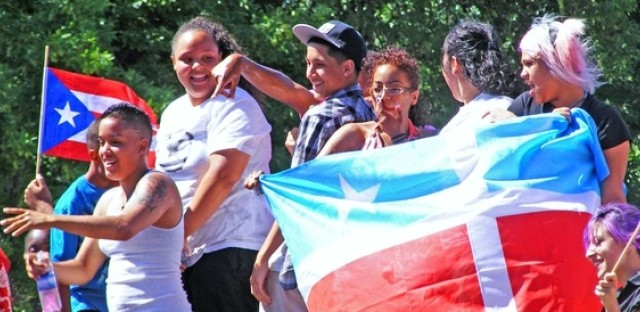 Young people celebrate in Humboldt Park at a 2010 parade.