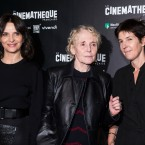 "From left, actress Juliette Binoche, director Claire Denis and novelist Christine Angot attend a premiere of ""Un Beau Soleil Interieur"" (Let the Sunshine In) in Paris, France, Monday, Sept. 25, 2017."