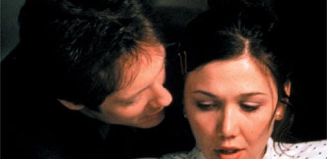 Maggie Gyllenhaal and James Spader star in the 2002 indie 'Secretary.'