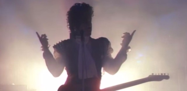 """A still from Prince's video for """"Let's Go Crazy."""" (YouTube)"""