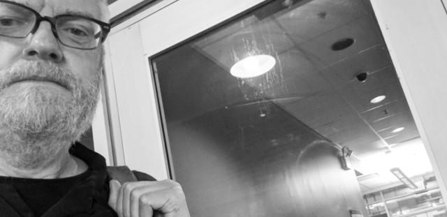 Liam Heneghan at WBEZ studios.
