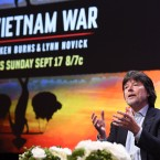 "Ken Burns participates in the ""The Vietnam War"" panel during the PBS portion of the 2017 Summer TCA's at the Beverly Hilton Hotel on Sunday, July 30, 2017, in Beverly Hills, Calif. (Photo by Richard Shotwell/Invision/AP)"
