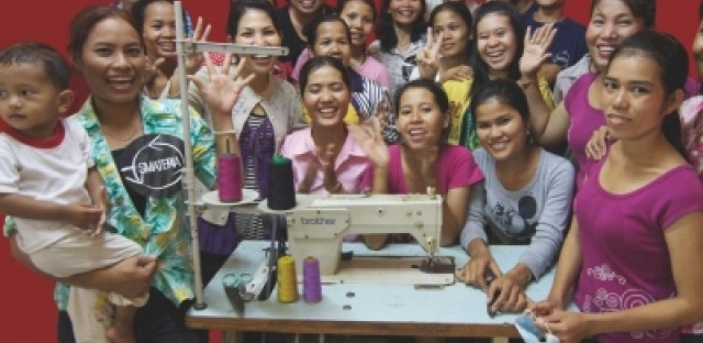 The women of Smateria in Cambodia make products for the U.S. market