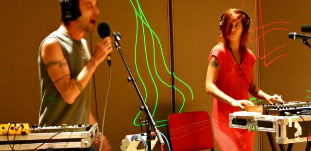 Handsome Furs perform in WBEZ studios for Sound Opinions